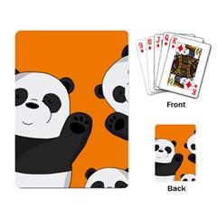 Cute Pandas Playing Card by Valentinaart