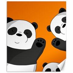 Cute Pandas Canvas 8  X 10  by Valentinaart