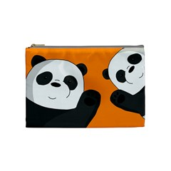 Cute Pandas Cosmetic Bag (medium)  by Valentinaart