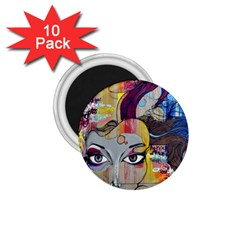 Graffiti Mural Street Art Painting 1 75  Magnets (10 Pack)  by BangZart