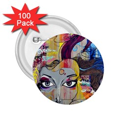 Graffiti Mural Street Art Painting 2 25  Buttons (100 Pack)  by BangZart