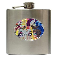 Graffiti Mural Street Art Painting Hip Flask (6 Oz)
