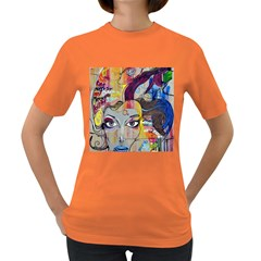 Graffiti Mural Street Art Painting Women s Dark T Shirt