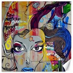 Graffiti Mural Street Art Painting Canvas 16  X 16