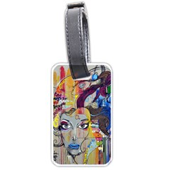 Graffiti Mural Street Art Painting Luggage Tags (two Sides) by BangZart