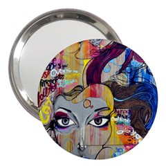 Graffiti Mural Street Art Painting 3  Handbag Mirrors by BangZart