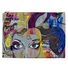 Graffiti Mural Street Art Painting Cosmetic Bag (xxl)  by BangZart