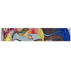 Graffiti Mural Street Art Painting Flano Scarf (large)