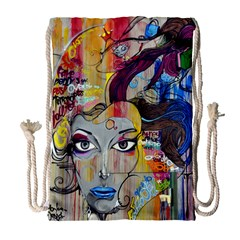 Graffiti Mural Street Art Painting Drawstring Bag (large)