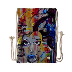 Graffiti Mural Street Art Painting Drawstring Bag (small) by BangZart