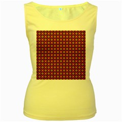 Kaleidoscope Seamless Pattern Women s Yellow Tank Top
