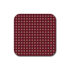 Kaleidoscope Seamless Pattern Rubber Coaster (square)