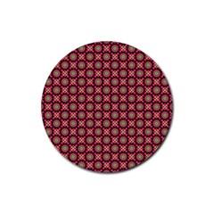 Kaleidoscope Seamless Pattern Rubber Round Coaster (4 Pack)  by BangZart