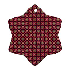 Kaleidoscope Seamless Pattern Snowflake Ornament (two Sides)