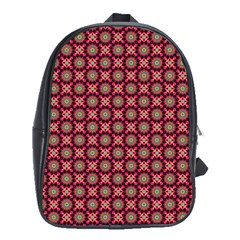 Kaleidoscope Seamless Pattern School Bag (xl)