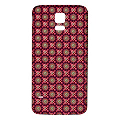 Kaleidoscope Seamless Pattern Samsung Galaxy S5 Back Case (white)