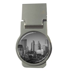 Minneapolis Minnesota Skyline Money Clips (round)
