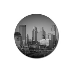 Minneapolis Minnesota Skyline Magnet 3  (round)