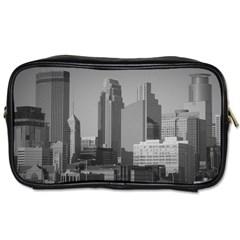 Minneapolis Minnesota Skyline Toiletries Bags
