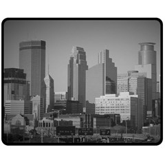 Minneapolis Minnesota Skyline Fleece Blanket (medium)