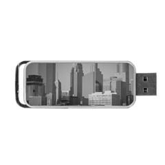 Minneapolis Minnesota Skyline Portable Usb Flash (two Sides) by BangZart