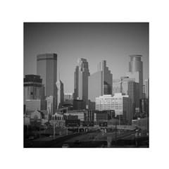 Minneapolis Minnesota Skyline Small Satin Scarf (square) by BangZart
