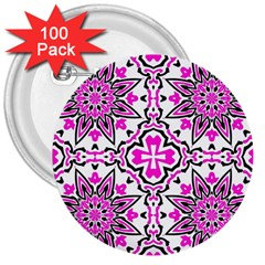 Oriental Pattern 3  Buttons (100 Pack)  by BangZart