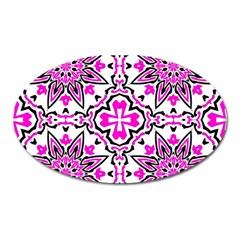 Oriental Pattern Oval Magnet by BangZart