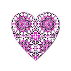 Oriental Pattern Heart Magnet by BangZart