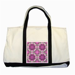 Oriental Pattern Two Tone Tote Bag by BangZart