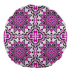 Oriental Pattern Large 18  Premium Flano Round Cushions by BangZart
