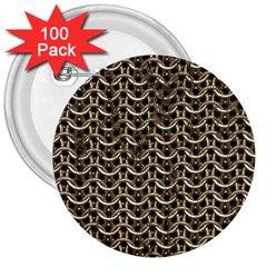 Sparkling Metal Chains 01a 3  Buttons (100 Pack)  by MoreColorsinLife