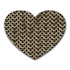 Sparkling Metal Chains 01a Heart Mousepads by MoreColorsinLife