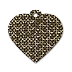 Sparkling Metal Chains 01a Dog Tag Heart (two Sides) by MoreColorsinLife