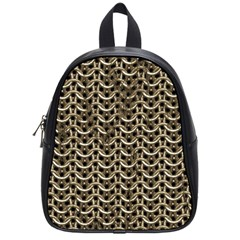 Sparkling Metal Chains 01a School Bag (small) by MoreColorsinLife