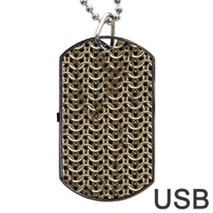 Sparkling Metal Chains 01a Dog Tag Usb Flash (two Sides) by MoreColorsinLife