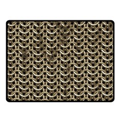 Sparkling Metal Chains 01a Double Sided Fleece Blanket (small)  by MoreColorsinLife