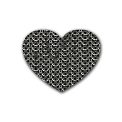 Sparkling Metal Chains 01b Heart Coaster (4 Pack)  by MoreColorsinLife