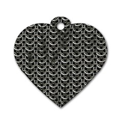 Sparkling Metal Chains 01b Dog Tag Heart (one Side) by MoreColorsinLife