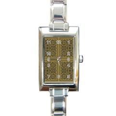 Seamless Pattern Design Texture Rectangle Italian Charm Watch