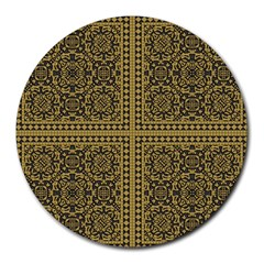Seamless Pattern Design Texture Round Mousepads by BangZart