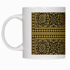 Seamless Pattern Design Texture White Mugs