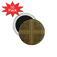 Seamless Pattern Design Texture 1 75  Magnets (10 Pack)