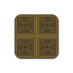 Seamless Pattern Design Texture Rubber Coaster (square)