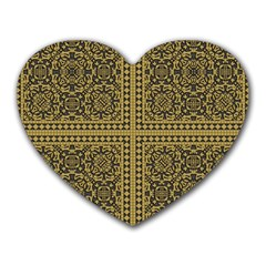Seamless Pattern Design Texture Heart Mousepads by BangZart
