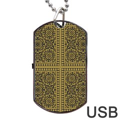 Seamless Pattern Design Texture Dog Tag Usb Flash (two Sides)