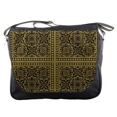 Seamless Pattern Design Texture Messenger Bags by BangZart