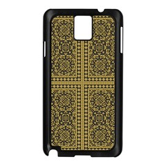 Seamless Pattern Design Texture Samsung Galaxy Note 3 N9005 Case (black)