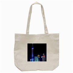 Shanghai Oriental Pearl Tv Tower Tote Bag (cream) by BangZart