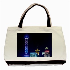 Shanghai Oriental Pearl Tv Tower Basic Tote Bag (two Sides)
